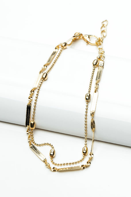 Accessories - DOUBLE STRAND CHARM ANKLET