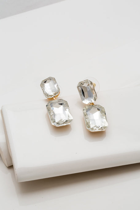 Accessories - FACETED CRYSTAL EARRINGS