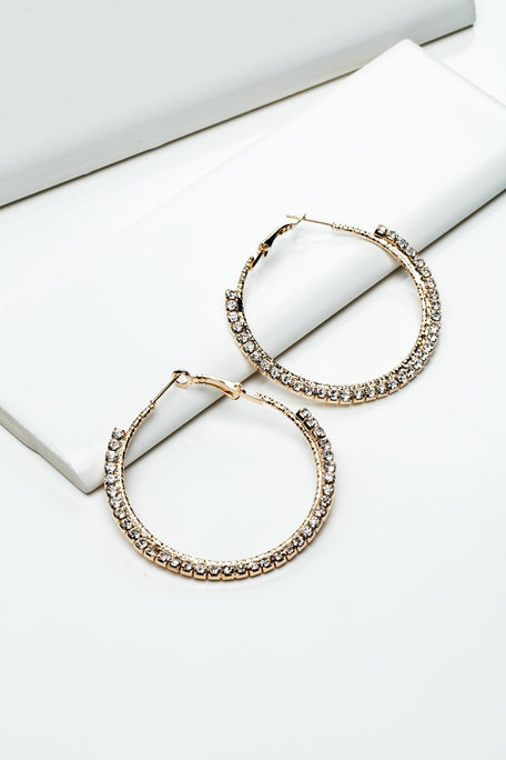 Accessories - HOOPS WITH RHINESTONES