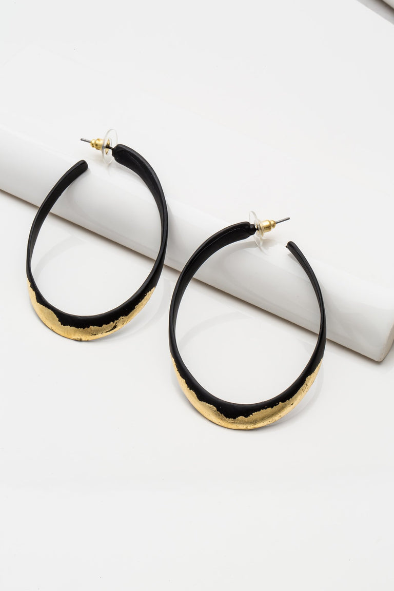 Accessories - OVAL ACCENT EARRINGS