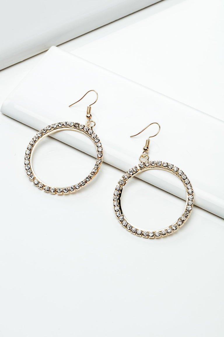 Accessories - SMALL HOOPS WITH RHINESTONES