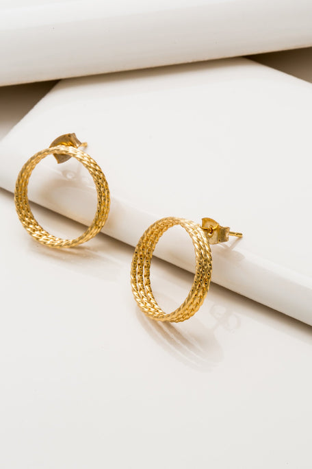 Accessories - THREE RING CIRCLE EARRING