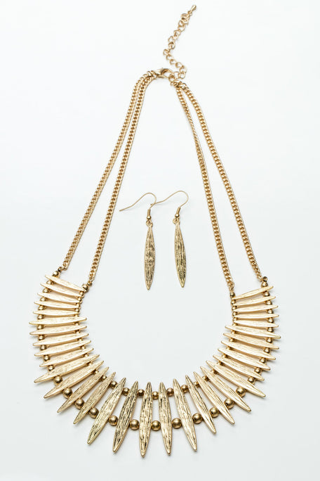 Accessories - VINTAGE EGYPTIAN INSPIRED NECKLACE WITH EARRINGS