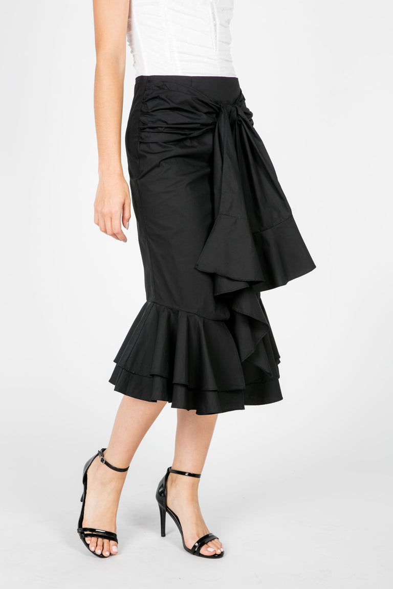 Bottoms - ALL THE WAYS RUFFLE SKIRT