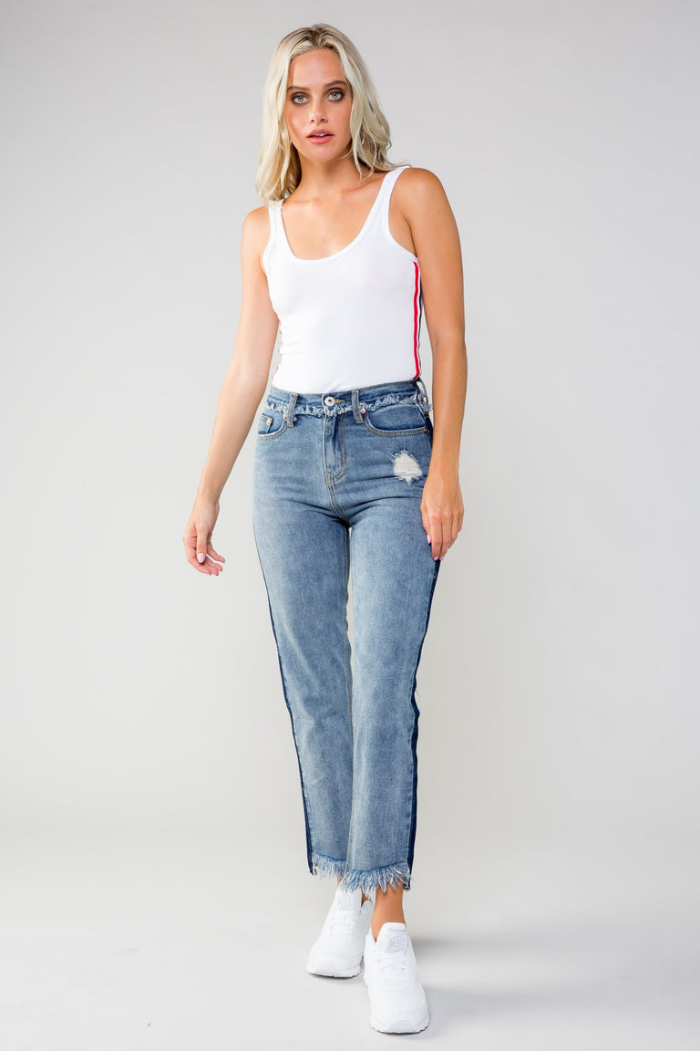 Bottoms - NO SCRUBS TWO-TONE JEANS