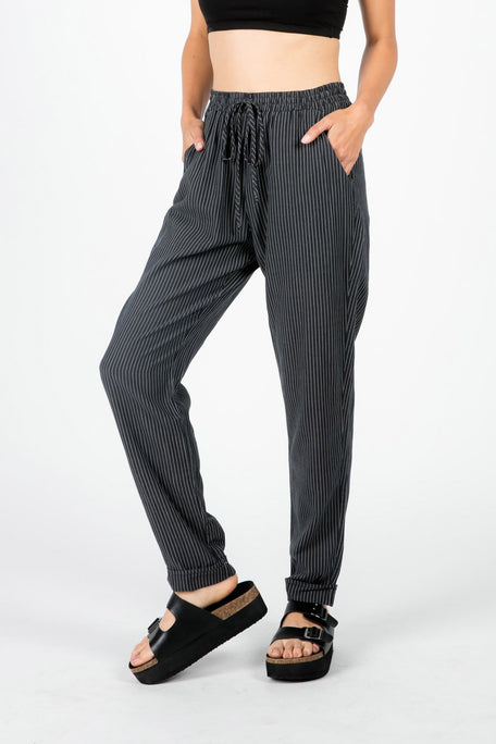 Bottoms - PRESLEY PINSTRIPE LOUNGE PANT
