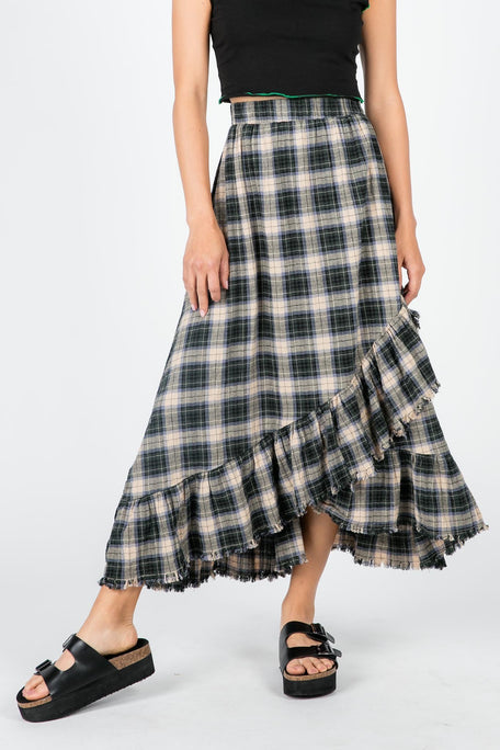 Bottoms - TEEN SPIRIT PLAID SKIRT