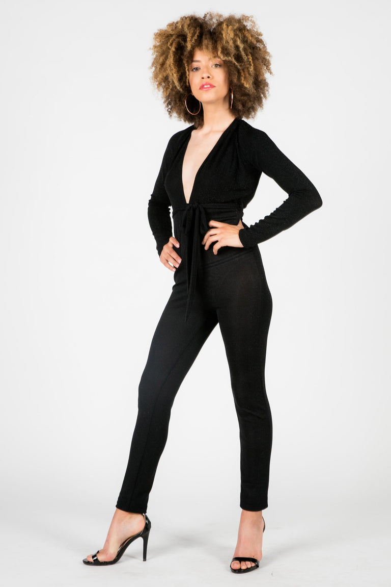 Bottoms - WHITNEY METALLIC JUMPSUIT
