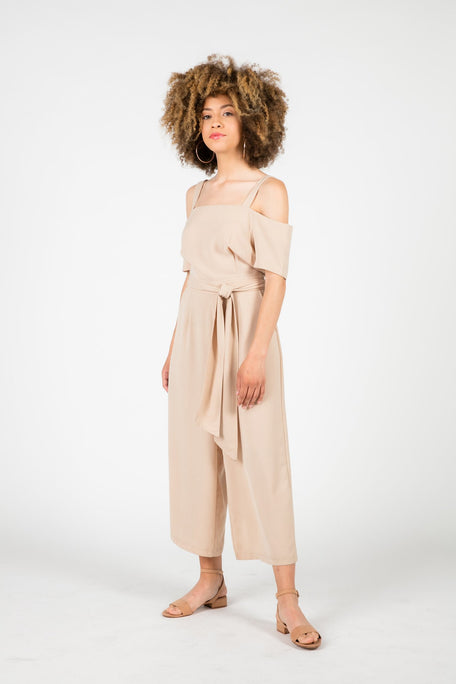 Bottoms - WILD THOUGHTS COLD SHOULDER JUMPSUIT