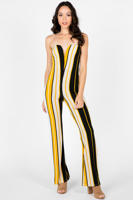 PARTY FAVORS STRIPED JUMPSUIT
