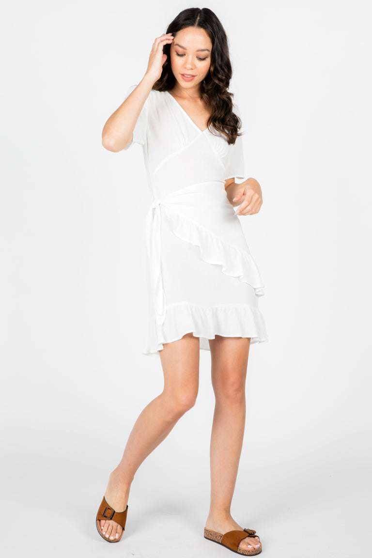 LANA RUFFLE WRAP DRESS