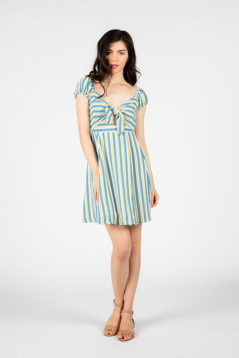 Dress - SLIDESHOW STRIPED DRESS