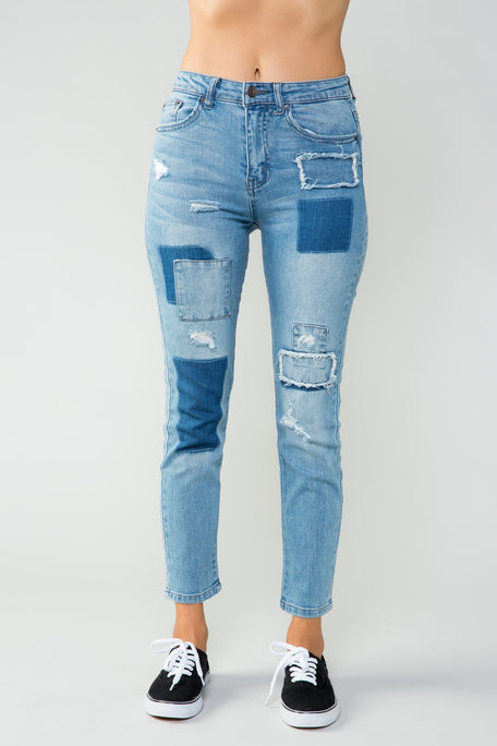Jeans - ANYTHING BUT ORDINARY PATCH PANT