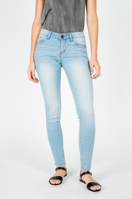 Jeans - MANDY WASHED DENIM PANTS