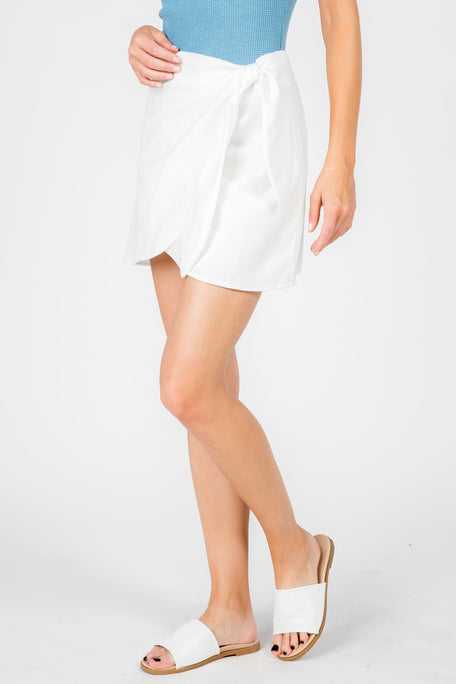 CALLIE FAUX WRAP SKIRT