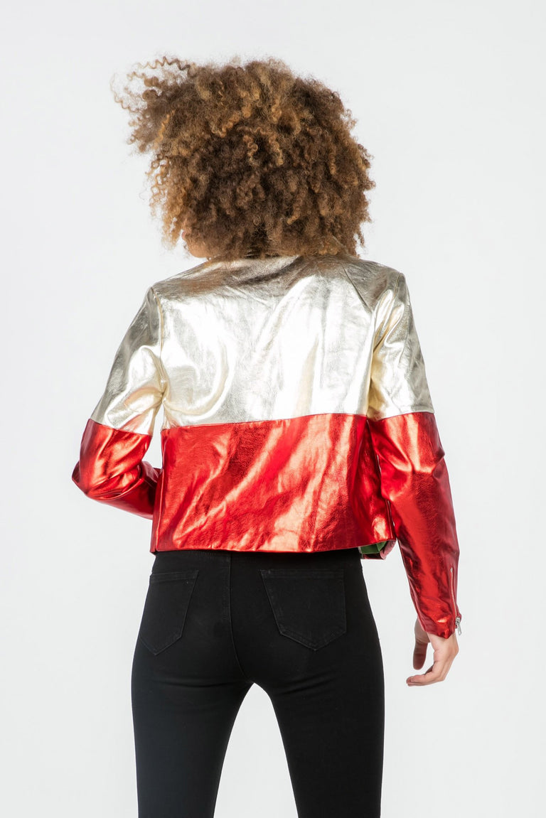 Outerwear - ZIGGY VEGAN LEATHER MOTO JACKET