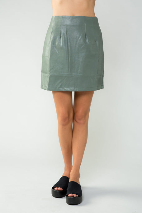 Skirt - EDGE OF THE BLADE PLEATHER SKIRT