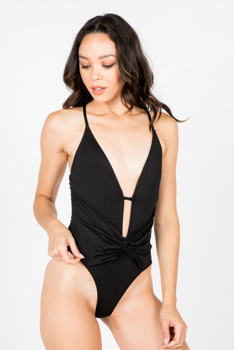 Swimwear - SICILY PLUNGE ONE PIECE SWIMSUIT