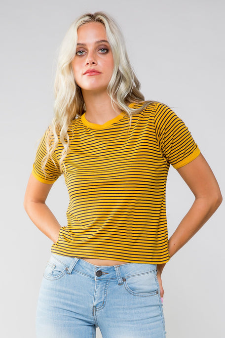 Tops - GOOD LIFE STRIPED T-SHIRT