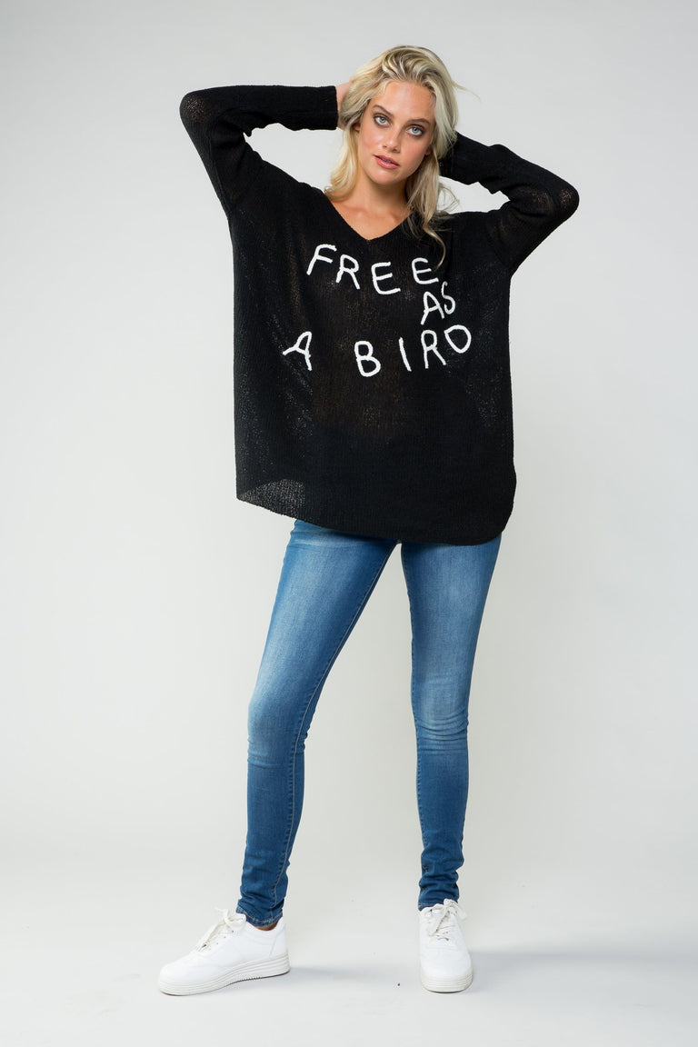 Tops - IF YOUR A BIRD I'M A BIRD OVERSIZE SWEATER