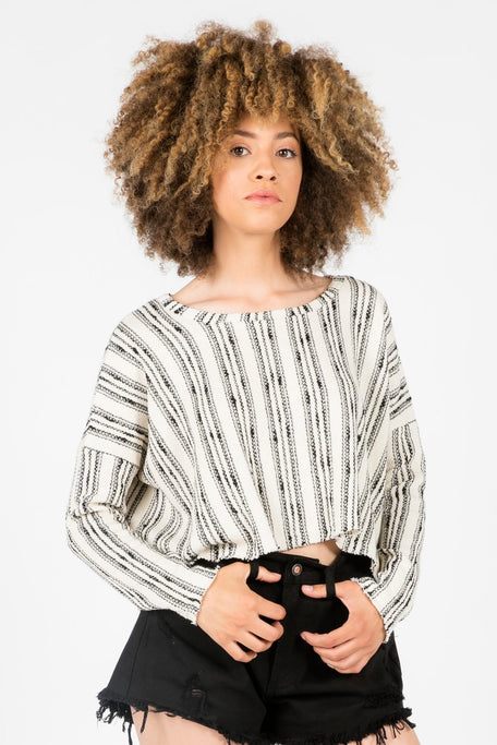 Tops - OLSEN CROP SWEATER