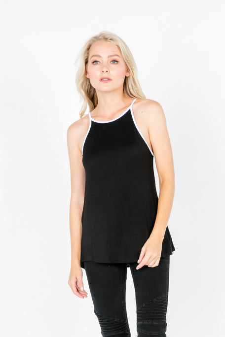 Tops - RACER HIGH NECK TOP