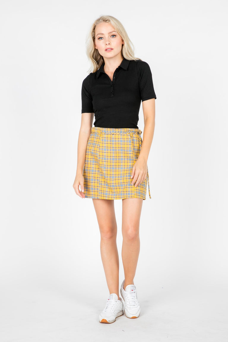 Tops - RENEE RIBBED KNIT COLLARED POLO SHIRT