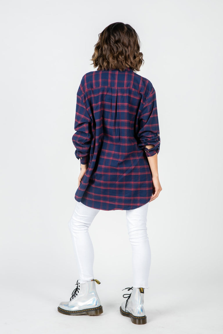 Tops - WHAT LOVERS DO PLAID SHIRT