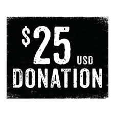 Order 1-TIME Donation $25