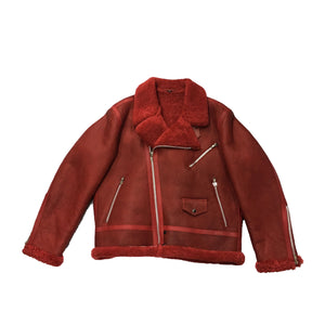 Men's Red Shearling Jacket