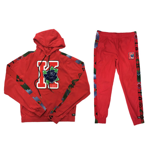 ByKiy Varsity Red Sweatsuit