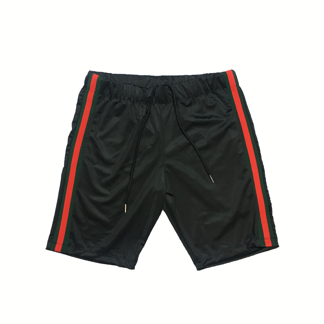ByKiy Track Shorts Red/Green