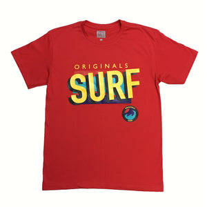 "Originals ""SURF"" T-Shirt ""Bermuda Red"""