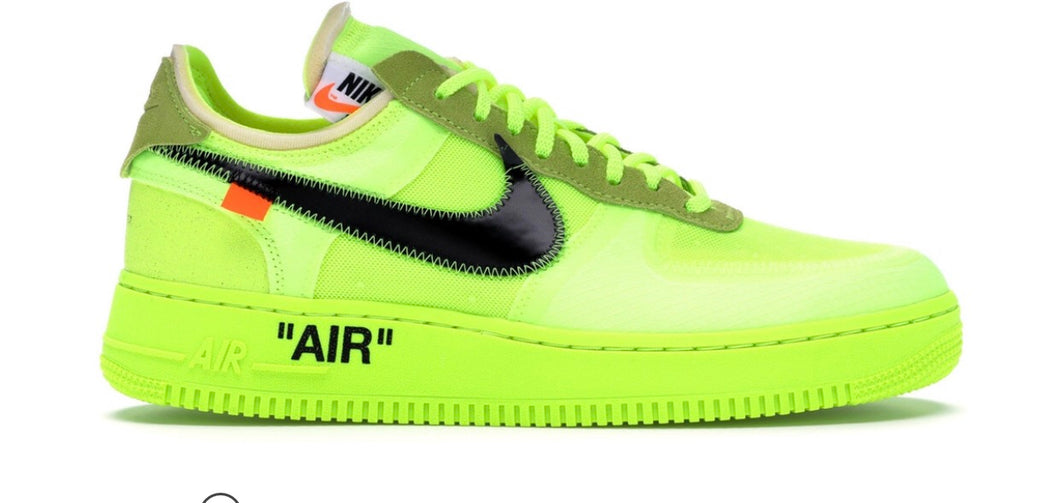 "Nike Air Force 1 ""OFF White"" Volt"