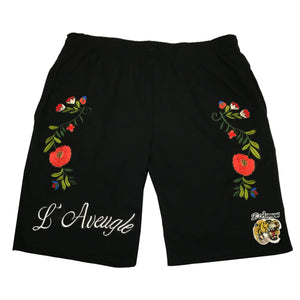 "L""Avengle Tiger Embroidered Shorts"