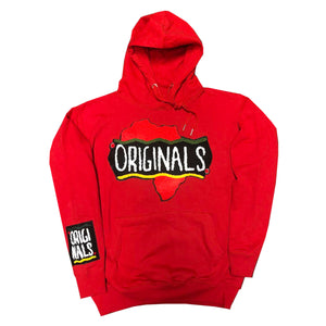 "Originals ""Motherland"" Varsity Hoodie ""Red"""
