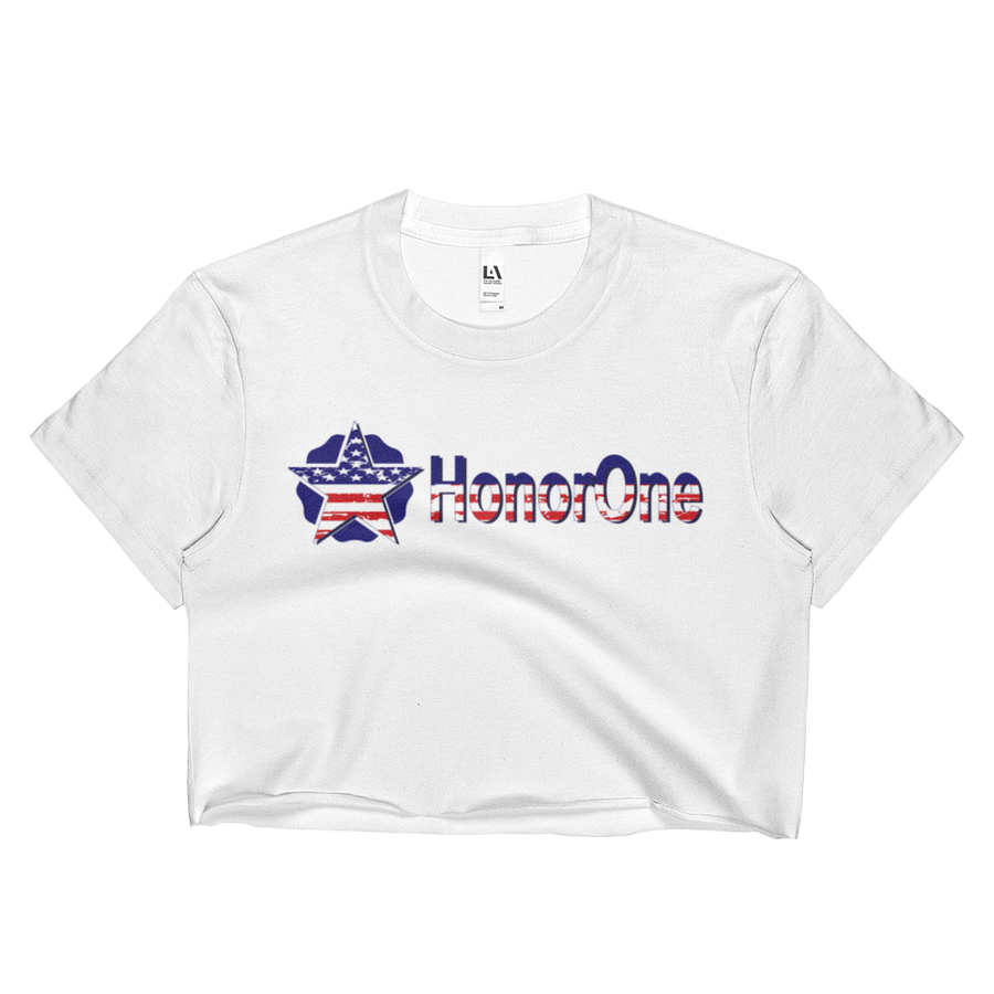 """Stars & Stripes"" HonorOne Crop Top - Honor One"