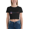 """The Classic"" Women's Crop Tee (Black) - Honor One"