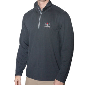 Long Sleeve 1/4 zip Knights of Golf Textured Pullover