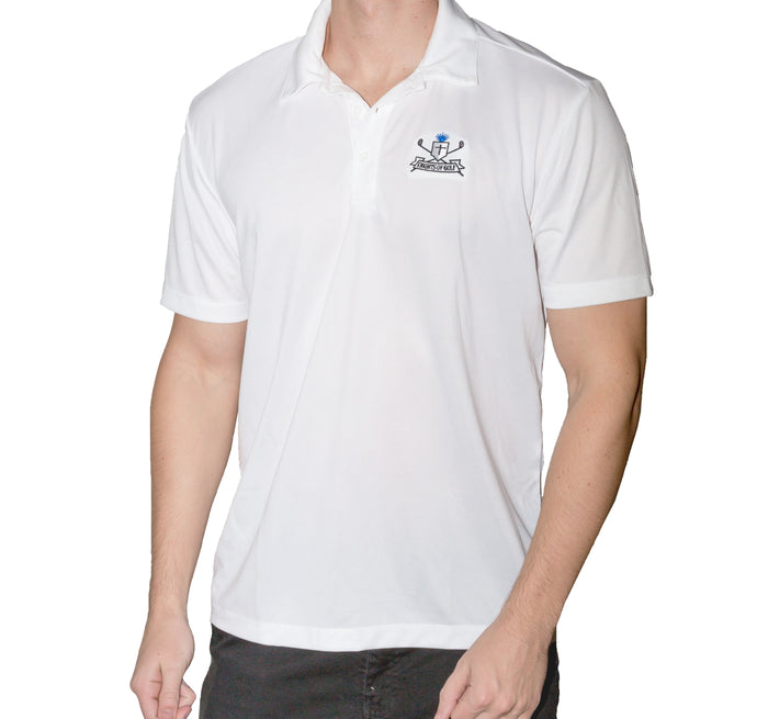 Knights of Golf White polo.
