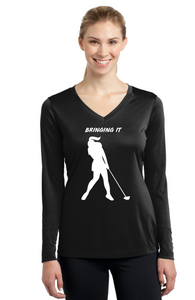 "Women's long sleeve ""Bringing it"" T-Shirt"