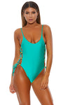 Seafoam Baracoa One Piece Swimsuit-Two Toned