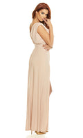 Even Split Sleeveless Gown