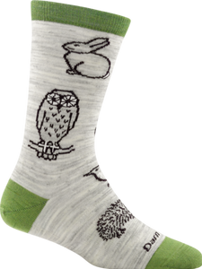 Darn Tough 1678 Woodland Creatures Crew Light Cushion women's sock