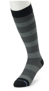 Dr Motion Men's Mild Compression Knee Socks Rugby Stripe ZM21018