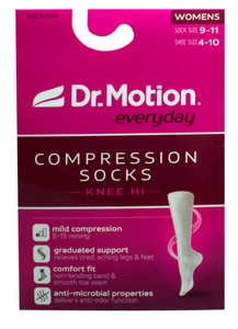 Dr. Motion Mild (8-15mmHg) Compression Knee High Damask Floral Women's Sock