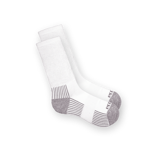EcoSox Diabetic Crew socks for men and women in black white and navy blue