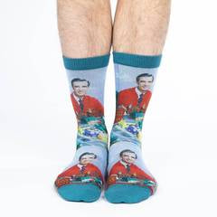 Good Luck Socks Mister Rogers Make Believe Kingdom women's and men's socks
