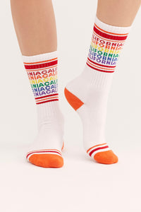 Gumball Poodle California women's and men's sock