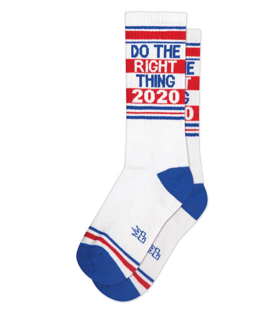 Gumball Poodle Do the Right Thing 2020 women's and men's sock